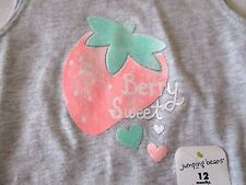 Jumping Beans Size 12 months Gray Berry Sweet Shirt Strawberry New