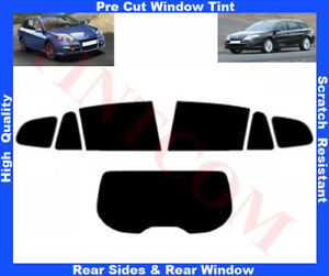 Renault Laguna 5D Est 08-12 Pre-Cut Window Tint 5%-50% Rear Window & Rear Sides