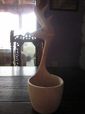 Mexican Deer Head Wooden Serving Bowl