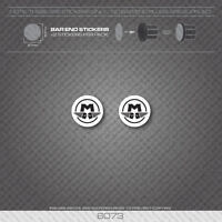 6073 - Motobecane Bicycle Handlebar Bar End Plug Stickers - Decals