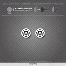 6073 - Motobecane Bicycle Handlebar Bar End Plug Stickers - Decals