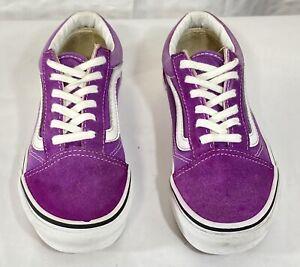 Vans Girls Purple Old Skool Sneakers Size 1.5