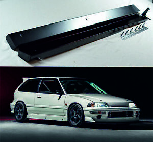 "Aluminum Side Skirts Time Attack 4"" for Honda Civic 88-91 Ef hatch"