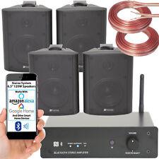 Bluetooth Negro Pared Sistema de Altavoces 16.5cm 120W Inalámbrico Amperios Hifi