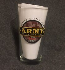 Coors Light United States Army We Salute You 16 Ounce Drinking Beer Glass USA VG