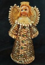 "Vintage Christmas Sequin Angel Decoration 7"" tall Japan"