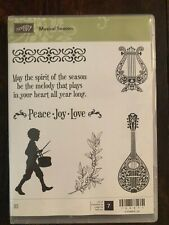 Stampin' Up! Retired MUSICAL SEASON stamps & MUSICAL INSTRUMENTS Framelit Dies