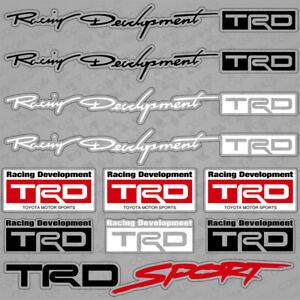 For Toyota TRD Racing Development Sport Car Sticker 3D Decal Stripes Decoration
