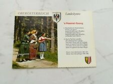 Oberösterreich Landeshymne s´Hoamat-Gsang