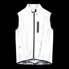 Men Cycling Jacket Bike Vest Windproof Reflective Silver - Night Glow MTB Gilet