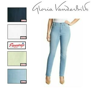 SALE! Gloria Vanderbilt Ladies Amanda Stretch Denim Jeans Sz/Clr VARIETY A41 A42