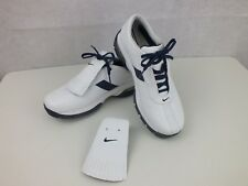 NIKE SPORT PERFORMANCE WOMEN'S WHITE NAVY TRIM REMOVABLE KILTIE COVER GOLF SHOES