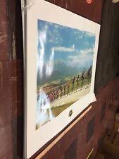 Tour de France Levi Leipheimer Astana Pro Team Trek LTD Edition Poster FRAMED