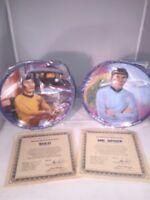 1983 Star Trek Mr SPOCK & SULU Hamilton Plates by Ernst COA & Numbered