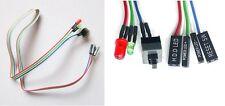 INTERRUTTORE RESET ATX pc + cavo led HDD alimentazione power scheda madre case c