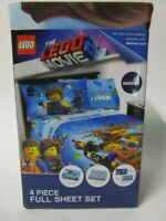 Lego Movie 2 Full Size 4 Piece Bed Sheets Set Let's Build Together