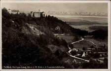 Schloß Heiligenberg alte Postkarte 1940 datiert Blick von der Freundschaftshöhle
