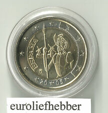 Spanje   2 Euro Commemorative 2005  Don Quichotte  in  Capsule   UNC