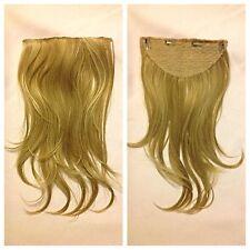 "20"" Heat Resistant Clip In Extension,Full Head Plain Blonde 613"