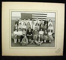 Vintage Chester Studios PUBLIC SCHOOL 1954 BRONX NY Class Photo B&W