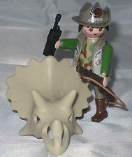 Playmobil / 1 Dino Ranger mit Triceratops-Schädel / Figur / Neu / Limitiert