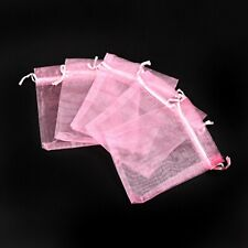 10 x Organza Bags Baby Pink 10cmx12cm for wedding birthday goody favour bags