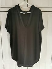 Jordan Taylor Collection Black Loose Knit Hooded Tunic/Top Size L