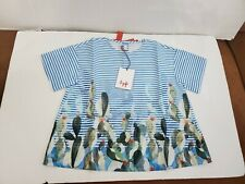 NWT!!!  MSRP $117 IL GUFO BOW BUTTON-DOWN SHIRT GIRL'S SIZE 8 COLOR BLUE / MULTI
