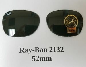 RB2132 New Wayfarer 52 mm size G-15 AUTHENTIC RAY BAN GLASS REPLACEMENT LENSES
