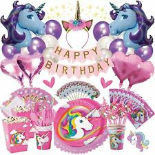 Unicorn Party Supplies Birthday Bundle For Girls Complete Set Decorations Party