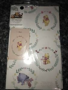 Disney Winnie The Pooh Gift Wrapping Paper 2 Sheets &Tags FREE 1ST CLASS POSTAGE