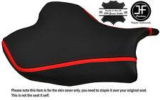 CARBON GRIP RED STRIPE CUSTOM FITS SUZUKI GSXR 1000 09-12 FRONT SEAT COVER