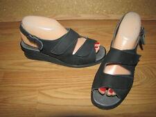 NWOB Spring Step Black Suede Flat Sandals - 7.5 European 38