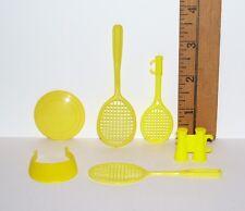 Barbie & Ken Sports Yellow Tennis Frisbee Visor Accessory Lot Pre-Owned