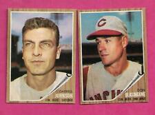 1962 TOPPS CINCINNATI REDS  EX-MT CARD LOT  (INV# C1430)