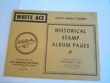 Nos - White Ace Stamp Album Pages Supplement Usr-6 & (2) Usr-7 & Usr-11