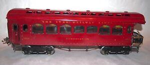 IVES Prewar Wide Gauge 189 Observation Car! CLEAN! PA