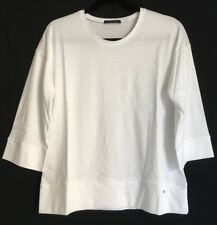 Strenesse,Shirt,Basic T-Shirt,Business,3/4 Arm ,Uni,Gr.40 Sommer,WEISS,100%BW
