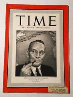 Vintage Time Magazine March 31 1941 Back Issue Land Maritime Commission WWII