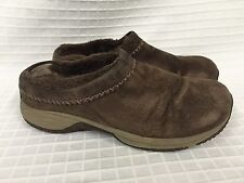 GUC Women's MERRELL Encore Chill Stitch Chocolate Slip On Brown Suede 7.5 Clog