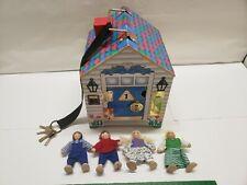 MELISSA AND DOUG Wooden Doorbell House w/ 4 Figures & Keys