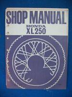 Honda XL250 Original Factory Service Shop Repair Manual A630