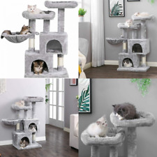 New listing BEWISHOME Cat Tree Tower Sisal Scratching Post Condos Climbing Light Grey