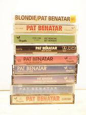 Lot of 9 PAT BENATAR cassette tapes true nervous precious seven best wide crimes