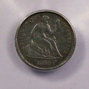 1860-O 1860 Seated Liberty Half Dime ICG F12