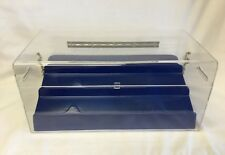 "NEW Acrylic Display Chest / Case 15"" x 9"" x 7 1/2"" Removable 3 Tier Blue Riser"