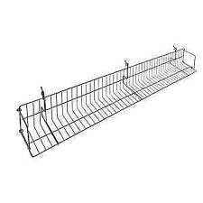 Black Wire Pegboard Shelves 48 x  5 x 7, 62269