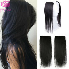 Brazilian 100% Human Hair Clip in Hairpiece Hair Extensions For Thicking Hair