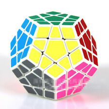 Magic Cube Puzzle Brain Trainer Educational Toy Dodecahedron shengshou white