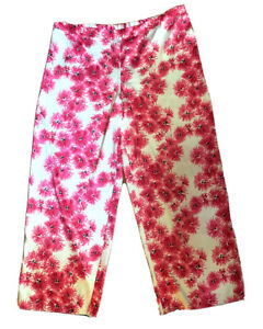 Gilligan and O'Malley Women's Sleep Lounge Pants Size XXL Satin Pink Floral NWOT